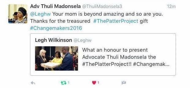 Platter project Thuli Madonsela tweet