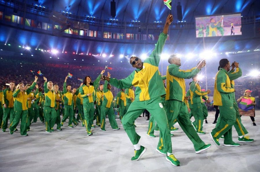 South African team at Olympics