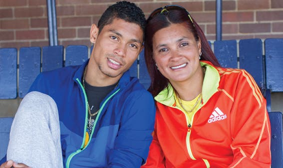 Wayde van Niekerk with mom