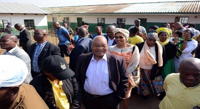 Zuma in queue to vote