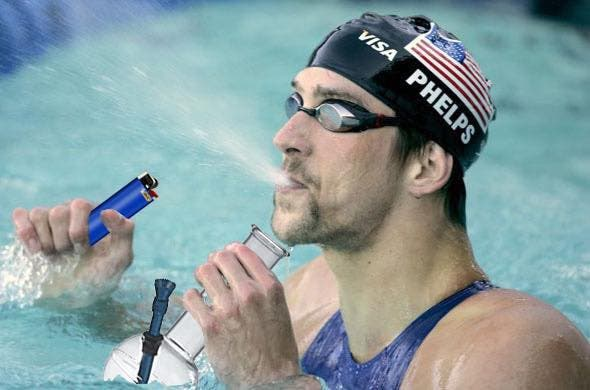 One of the first memes after Phelps' win. Supplied by Alex Belush.