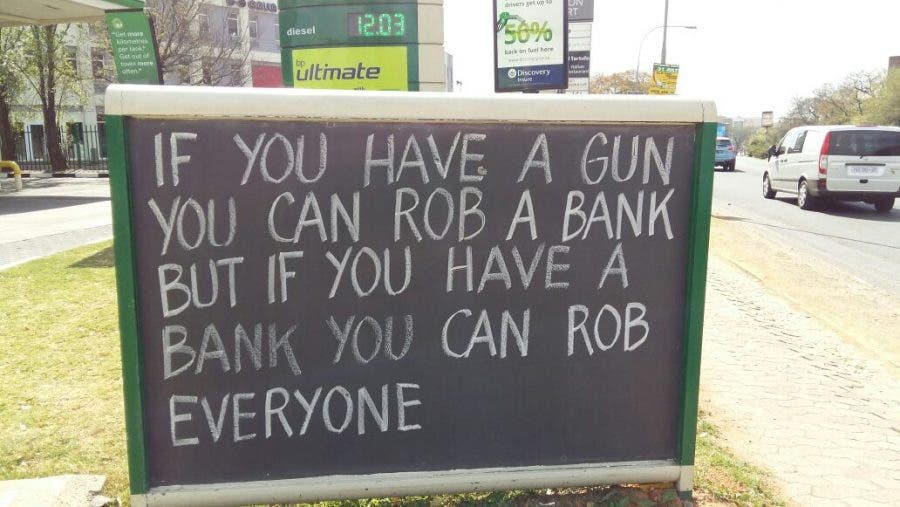 Hyde Park Petrol Pump Wisdom - Chalkboard Quotes and Messages
