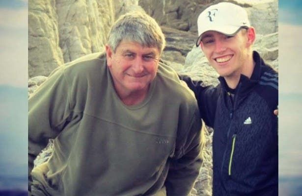 Charl du Toit and his uncle. Photo: SASCOC