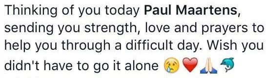 Leigh-Anne's message earlier in the day...