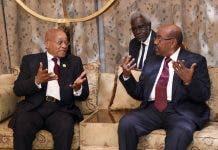 President Jacob Zuma in the Republic of Sudan for consultations with President Omar al-Bashir