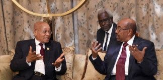 President Jacob Zuma in the Republic of Sudan for consultations with President Omar al-Bashir