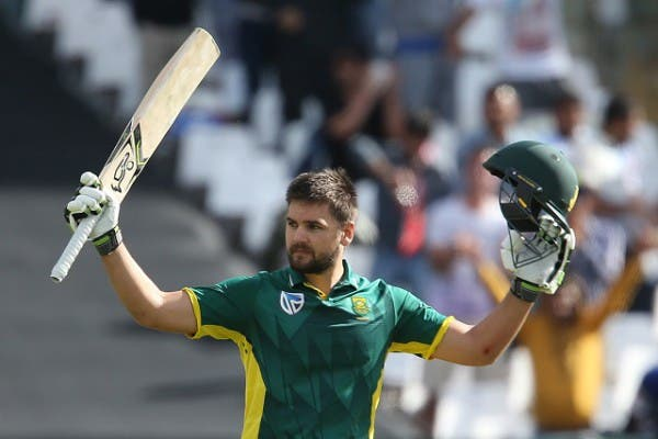CAPE TOWN, SOUTH AFRICA - OCTOBER 12: Rilee Rossouw of the Proteas celebrates his 100 during the Momentum ODI Series 5th ODI match between South Africa and Australia at PPC Newlands on October 12, 2016 in Cape Town, South Africa. (Photo by Carl Fourie/Gallo Images)