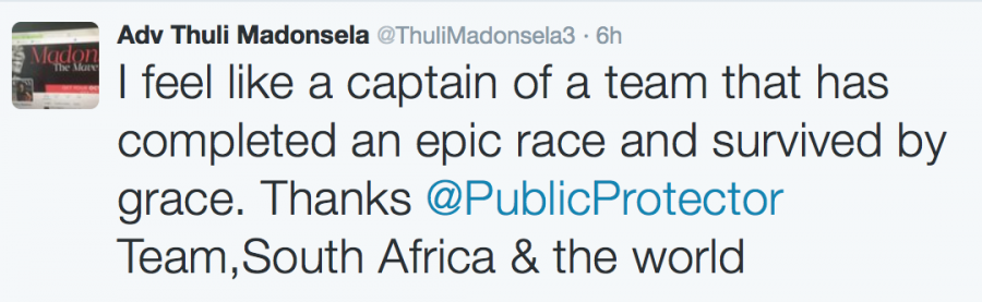 Madonsela tweet