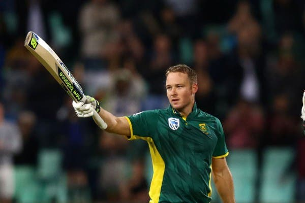 DURBAN, SOUTH AFRICA - OCTOBER 05: David Miller celebrates his 100 runs during the 3rd Momentum ODI Series match between South Africa and Australia at Sahara Stadium Kingsmead on October 05, 2016 in Durban, South Africa. (Photo by Anesh Debiky/Gallo Images)