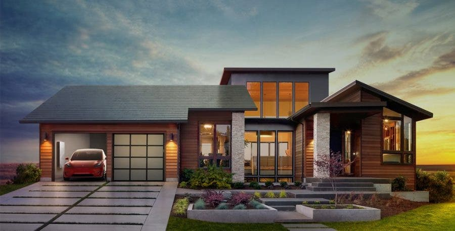 ... solar-powered roof tiles, launched Friday by his electric car company