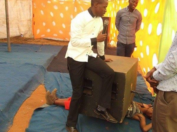 Prophet Of Doom Sprays Sick Members Of Congregation In