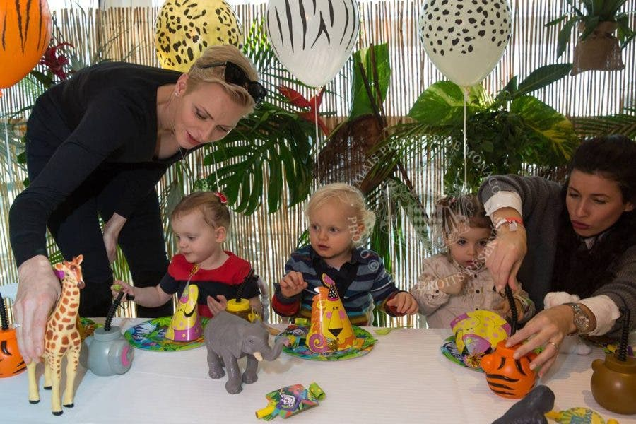Princess Charlene Is Keen For Her Children To Also Be In Touch With African Roots And So Their Second Birthday She Threw Them A Safari Themed