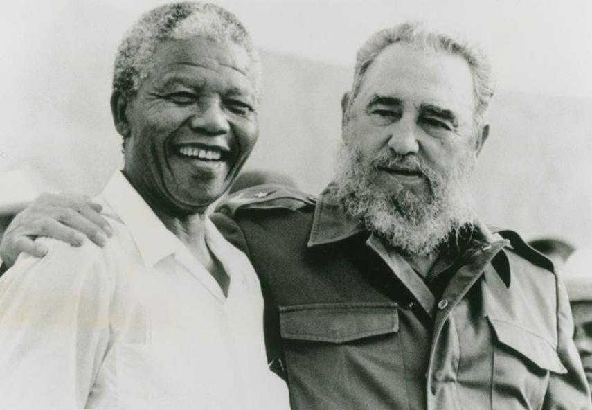 Nelson Mandela and Fidel Castro, 26 July 1991. Matanzas, Cuba © Libiria Noval