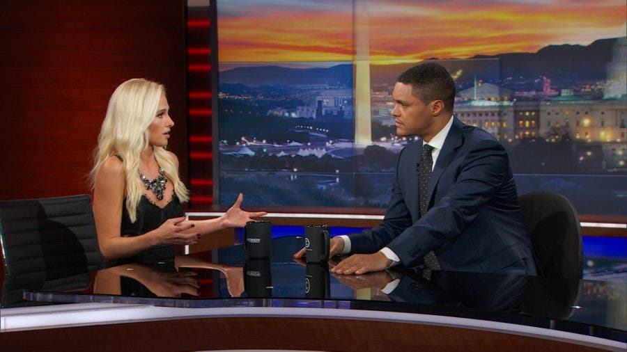 Tomi Lahren and Trevor Noah. Source: FB/TheDailyShow