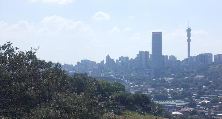 Joburg skyline from the east - Heritage Portal - 2014