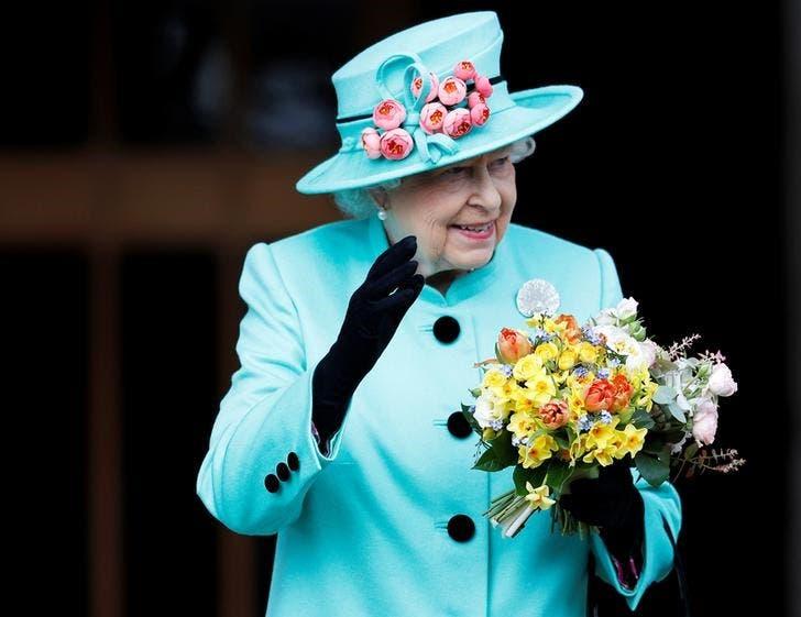 Britains Queen Elizabeth Leaves The Easter Sunday Service In Windsor Castle April 16 2017 REUTERS Peter Nicholls