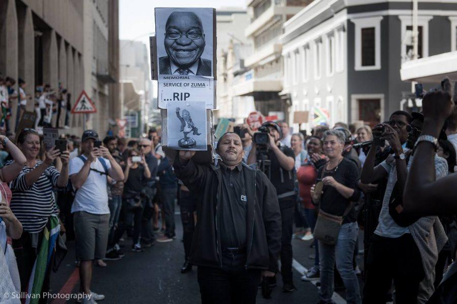 zuma protests cape town