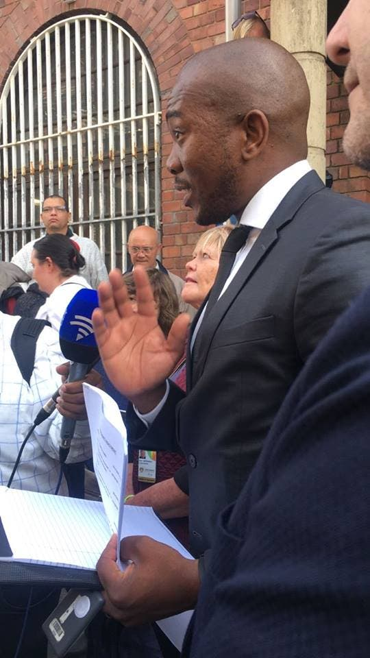 Mmusi Maimane lays charges against ANC