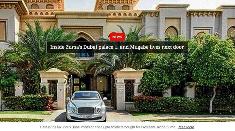 Presidency Claims Dubai Palace Story Is A Fabrication Da Challenges Zuma To Take Legal Action Sapeople Your Worldwide South African Community