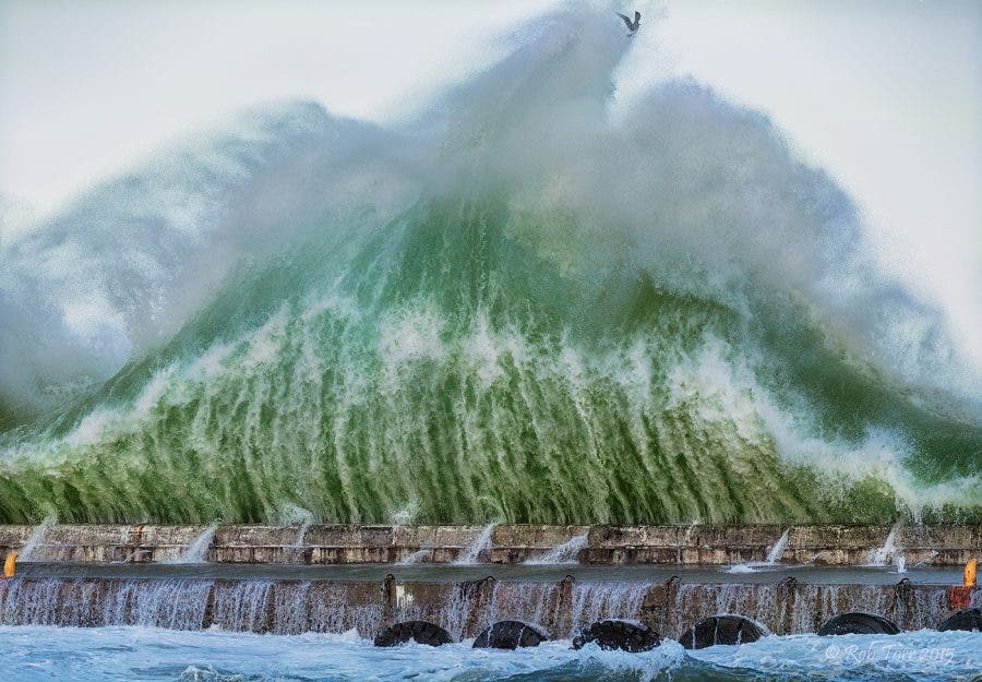 Rob Tarr Photos Above And Below Of High Seas At Kalk Bay Harbour In