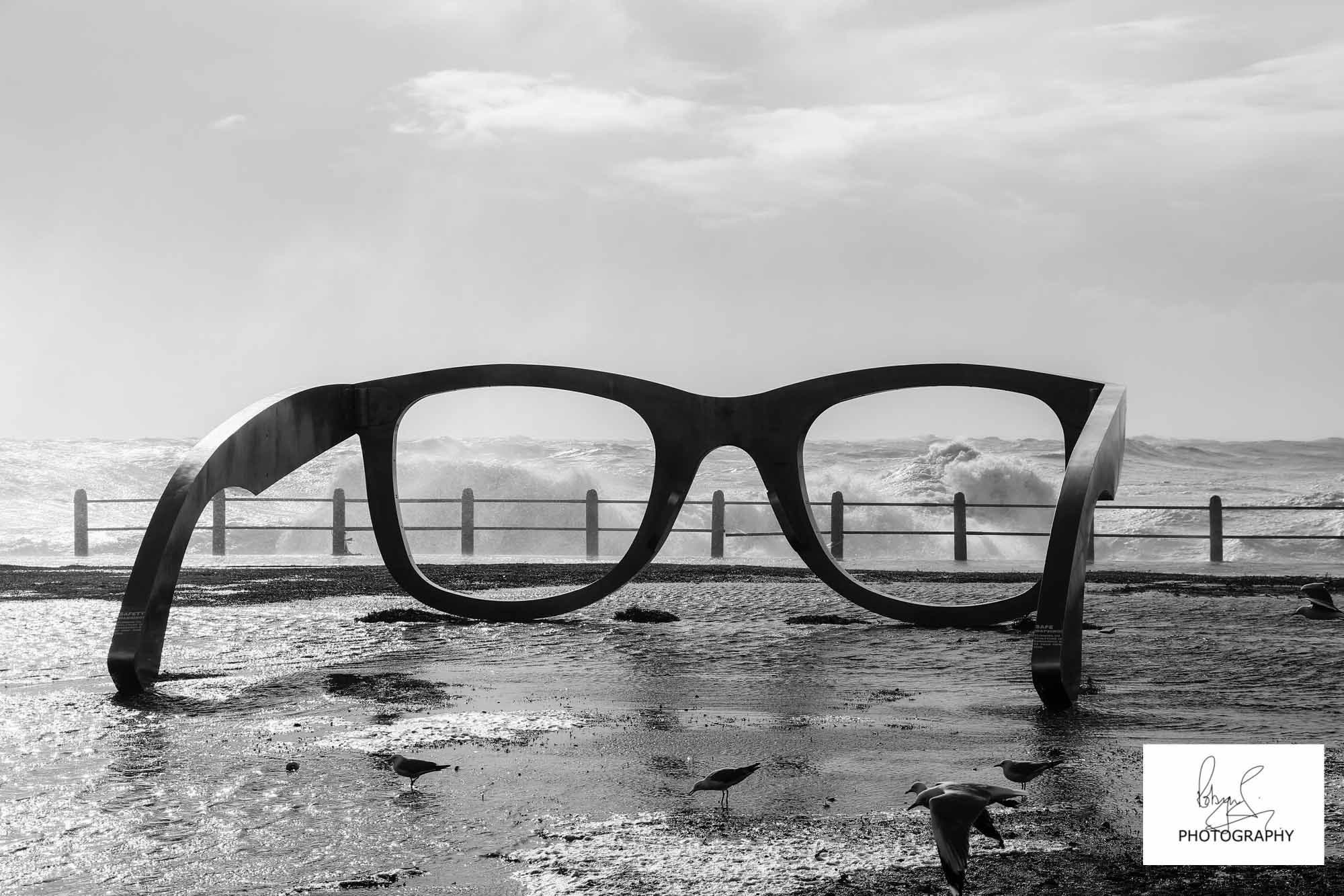 cape storm eyeglass sculpture cape town