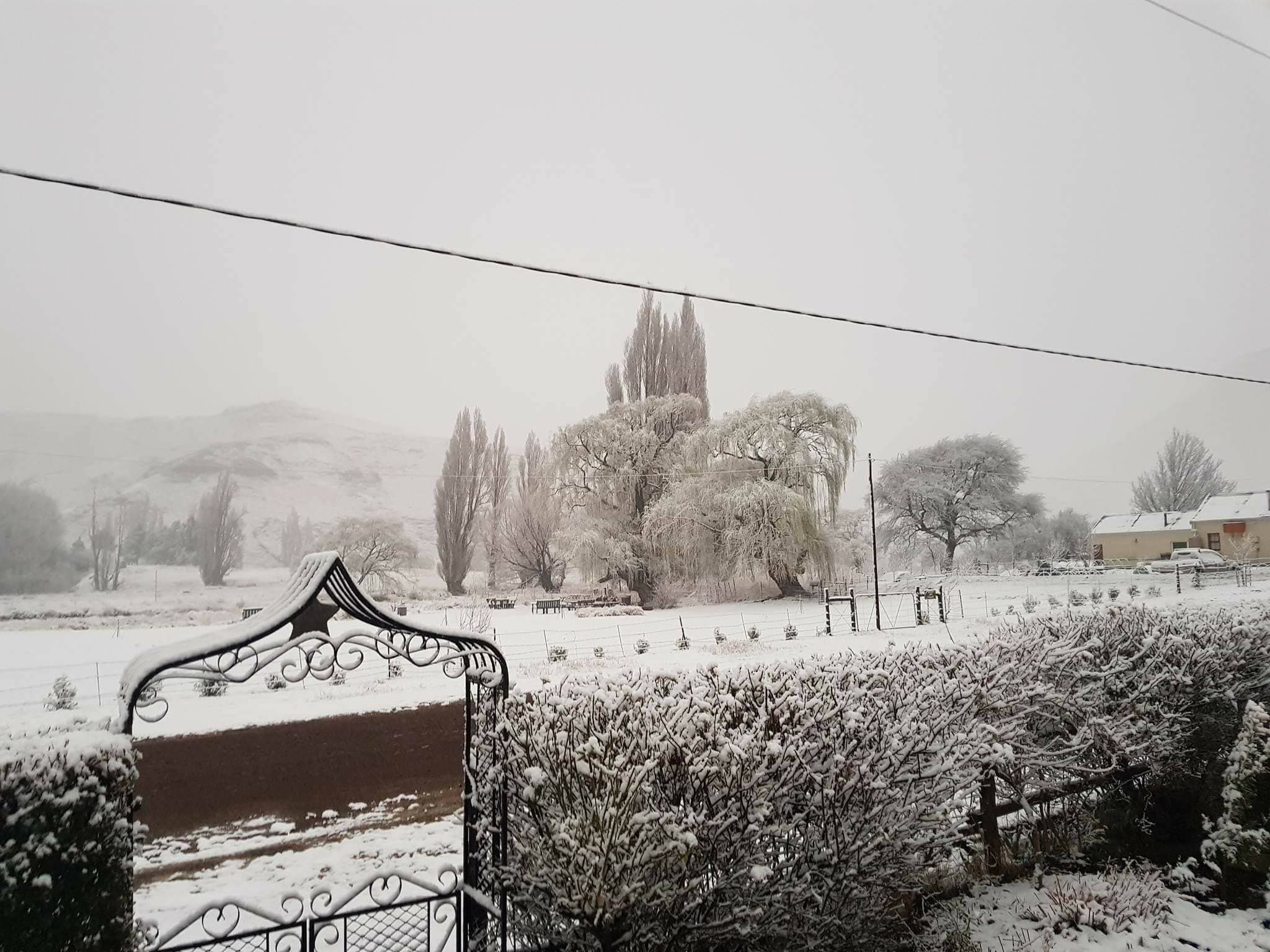Snow in Rhodes village Eastern Cape