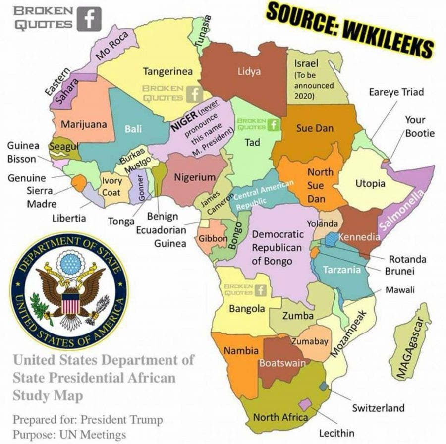 africa map meme