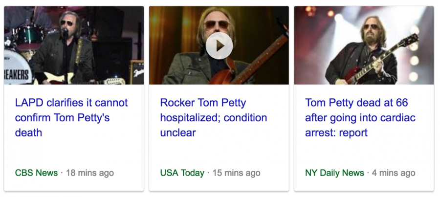 Reports on Tom Petty are conflicting