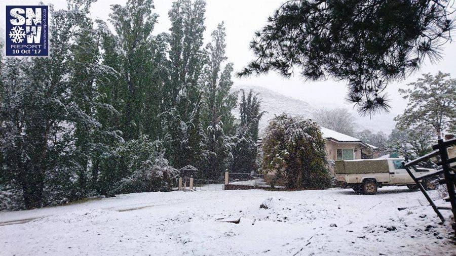 Snow at Mount Nevin Farm