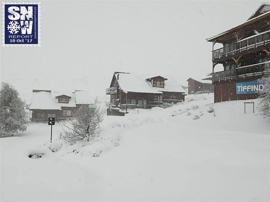 Snow at the Tiffindell Ski Resort in the Eastern Cape