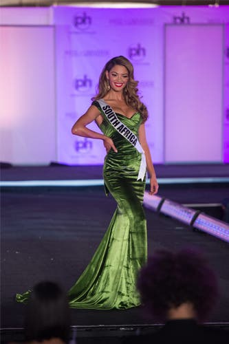 Universe South Africa Evening Gown Demi Leigh Home Journey