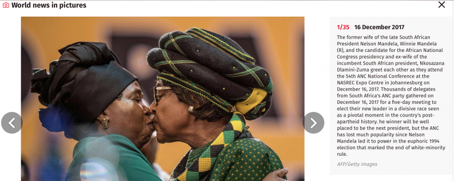 Winnie Mandela and Dlamini-Zuma Kiss