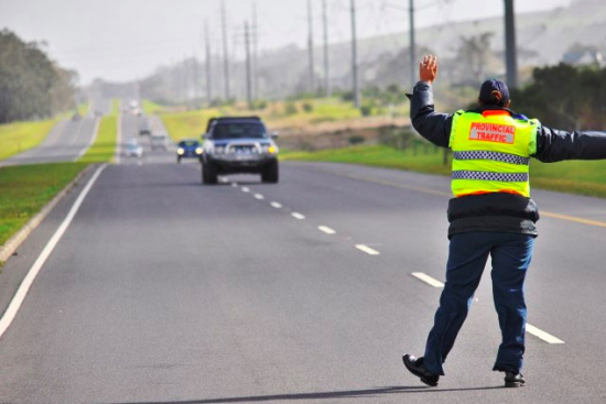 Police checkpoints in South Africa