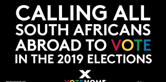 Calling All South Africans Abroad to vote