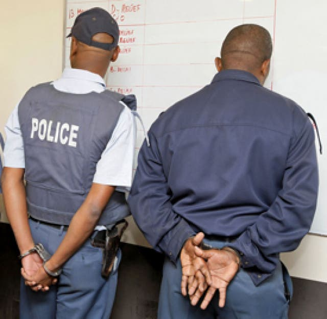 Image result for south african police officers arrested