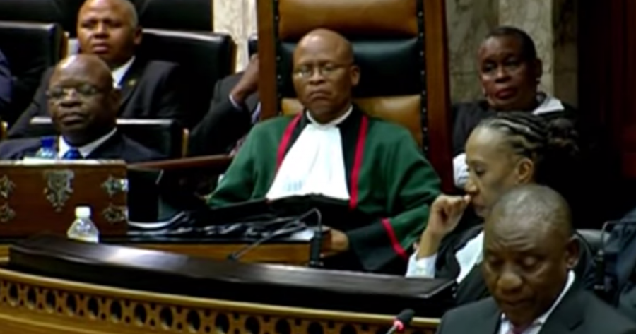 Ramaphosa thanks the Chief Justice for his prayer