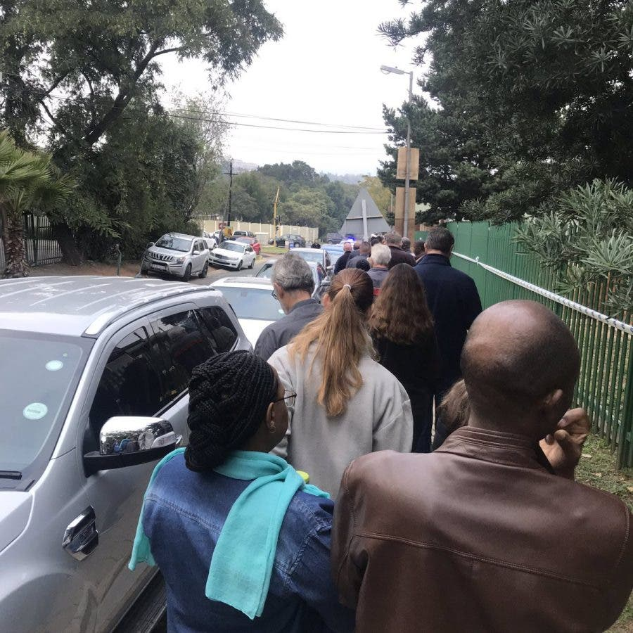 South African elections, Randburg.