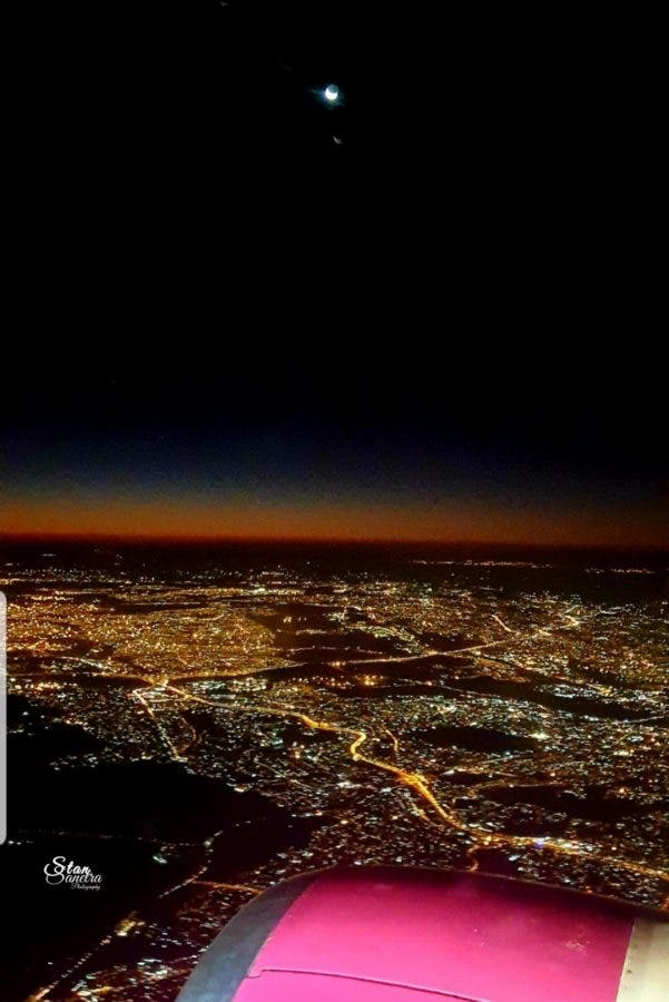Night skies flying out of Joburg