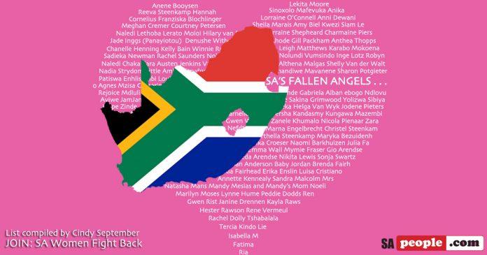 south africa's fallen angels list