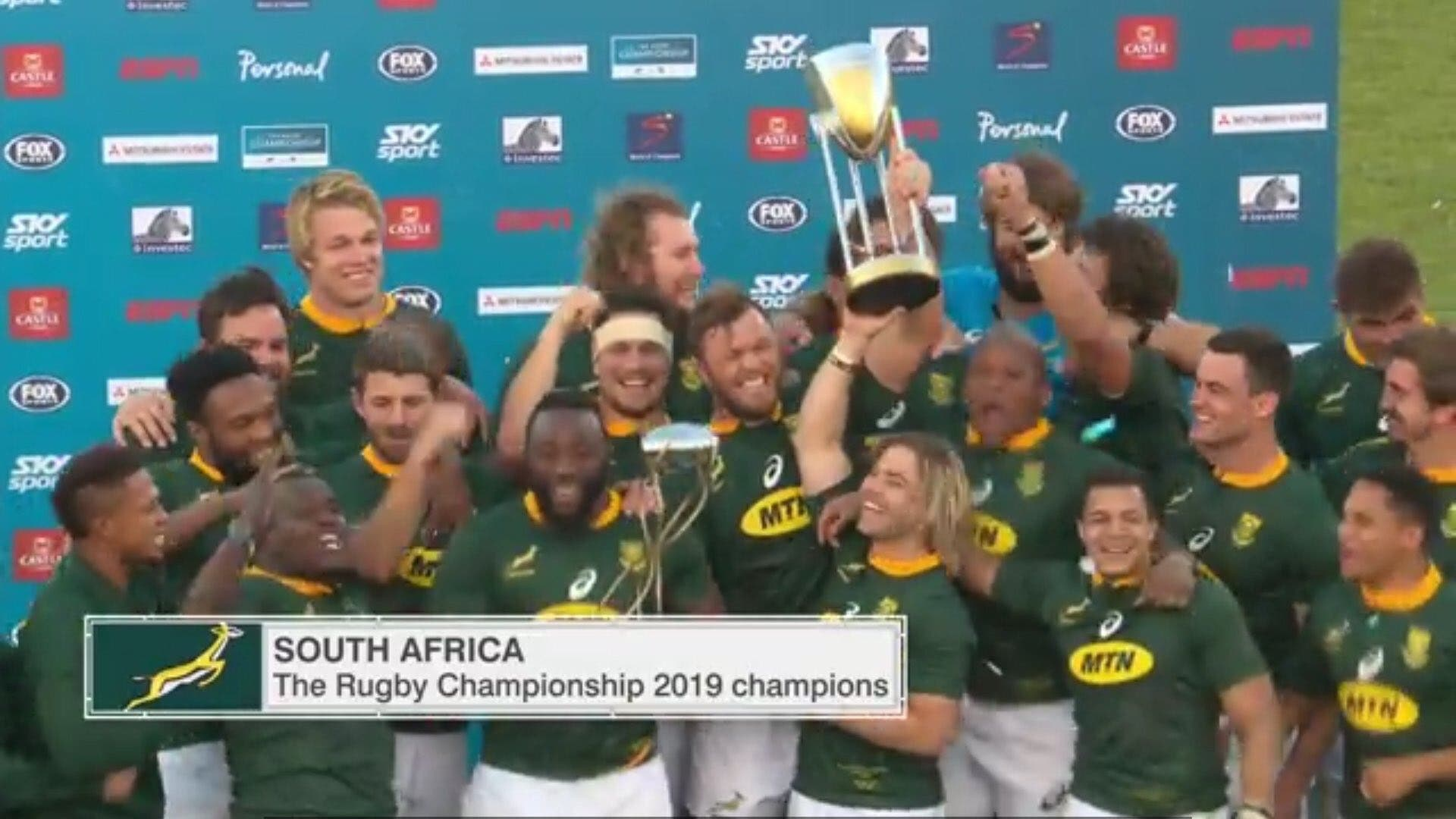 WATCH Springboks Celebrate as South Africa WINS The Rugby