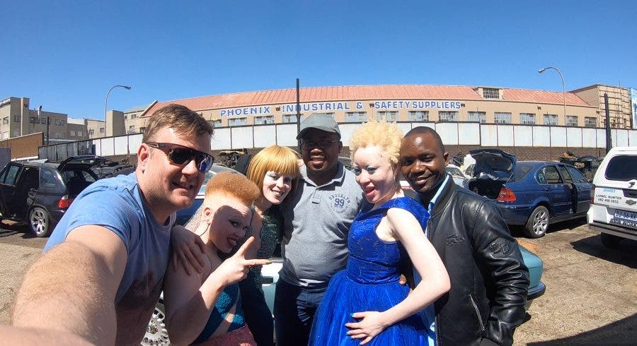 Behind the scenes of the proud Albinism video, albino life