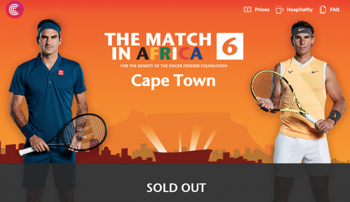 Federer V Nadal Match In Africa Tickets In Cape Town Sold Out