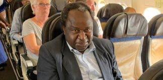 tito-mboweni-economic-class-plane flight