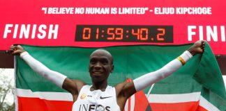 Kenyan Eliud Kipchoge runs marathon in under 2 hours