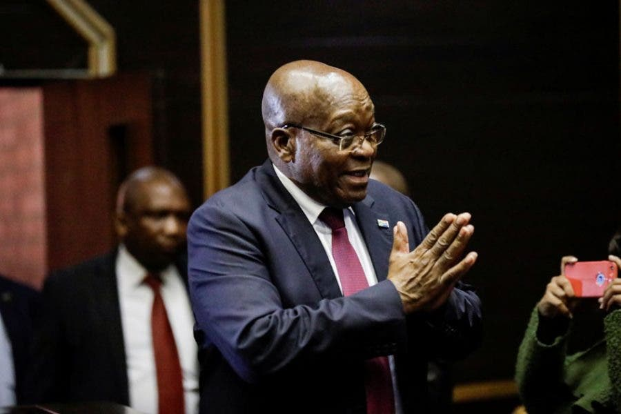 Former South African President Jacob Zuma appears in court where he faces charges that include fraud, racketeering and money laundering in Pietermaritzburg