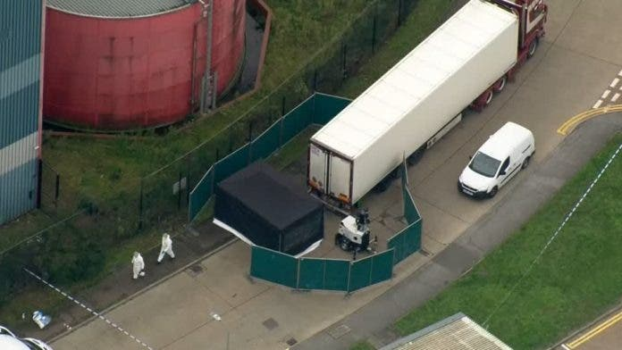 UK police discover 39 bodies in truck, arrest driver