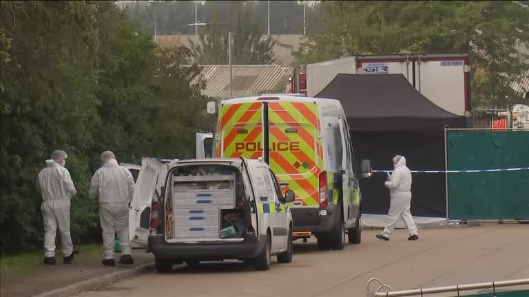 39 bodies found in UK cargo truck, driver arrested