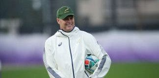 South Africa head coach Rassie Erasmus during trainin