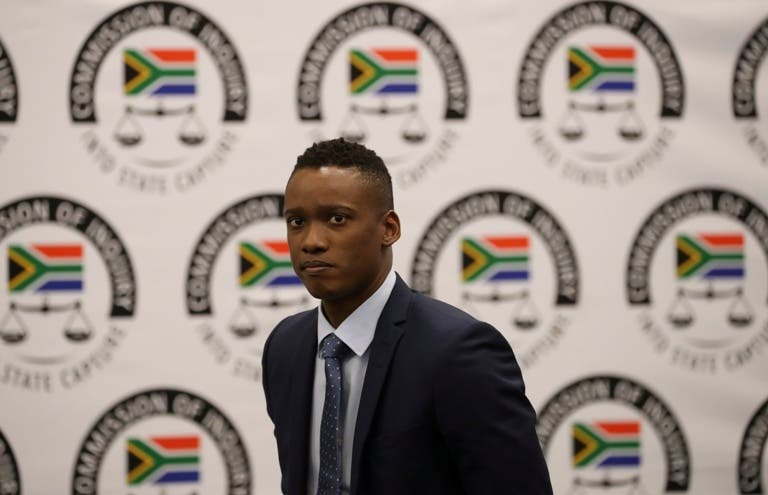 Duduzane Zuma, the son of former South African President Jacob Zuma at state capture inquiry
