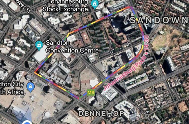 gay pride google map sandton joburg sa